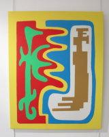 Entwining contours  :  acrylic   on canvas   :  60  cm x  70  cm  : £185