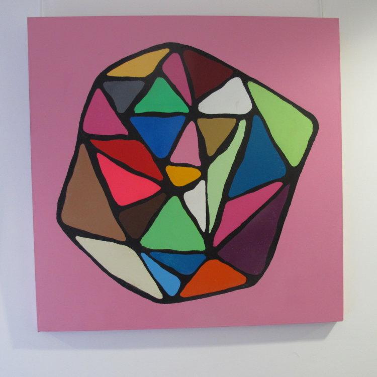 The hidden face of colour : acrylic on canvas  100 cm x 100 cm £365