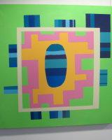 Border in Borders :  acrylic   on canvas   100 cm x 100 cm : £345