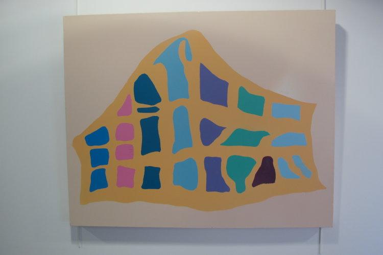 Cryptic one : acrylic  on canvas  80 cm x 60 cm : £295