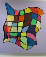 Twin continuity :  acrylic  on canvas 100  cm  x  100  cm : £365