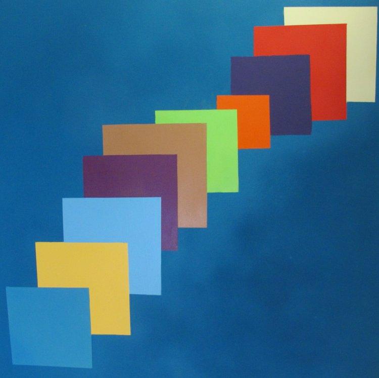 Colour ascending  :  100 cm x 100 cm  acrylic  : £195