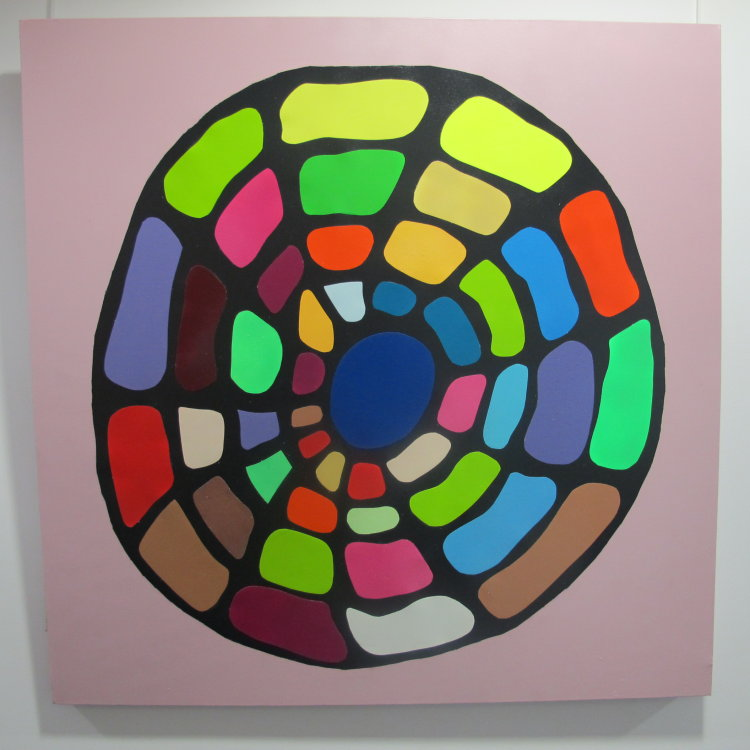 Wheel of Light  :  acrylic  mounted  on canvas  :  100  cm  x  100  cm  : £425