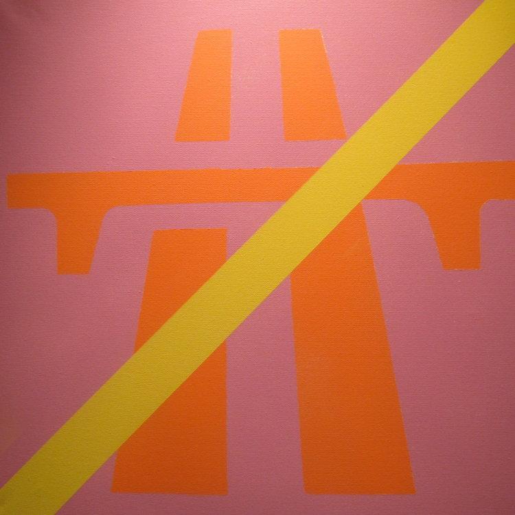 Alternative Road  Sign  #1  :  acrylic  60 cm x 80  cm  : £150