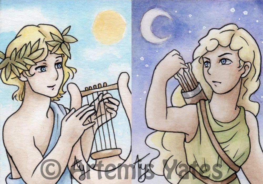 Apollo and Artemis ACEOs