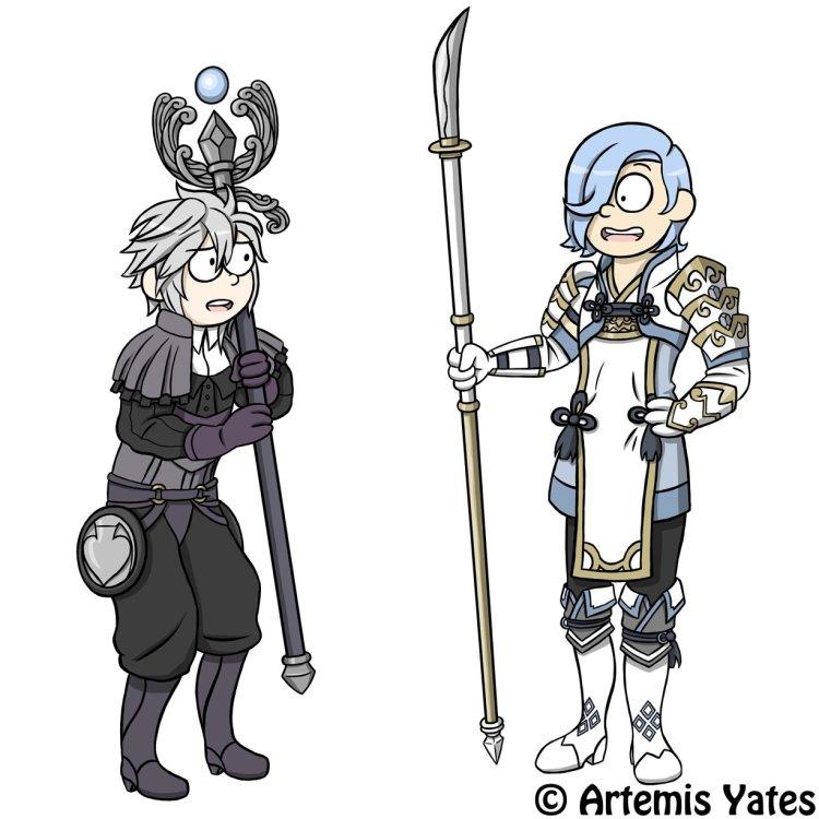 Fire Emblem Dwyer and Shigure