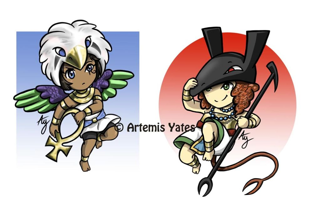 Horus and Set Chibis