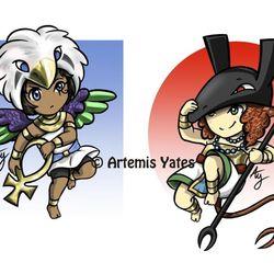Horus and Set Chibis