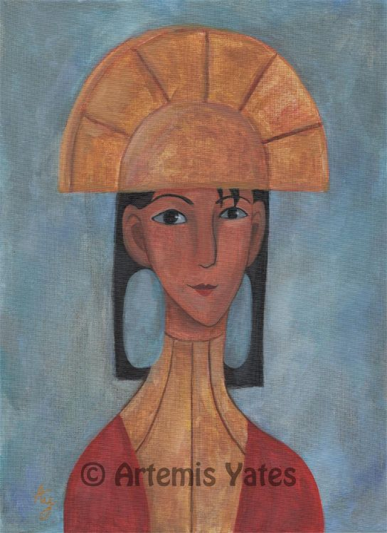 Disney Kuzco in the style of Modigliani