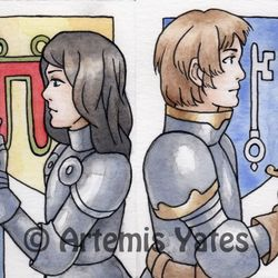 Sir Bedivere and Sir Kay ACEOs
