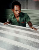Worker in Nigerian Aluminium Factory, Lagos < Nigeria