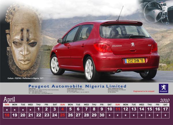 Peugeot Nigeria Calendar 2010