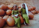 Two little girls at a village near Sokoto in Northern Nigeria