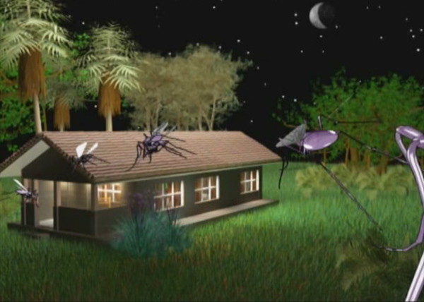 Still from Rambo Magic Paper TV Advert, using 3D Graphics Animation