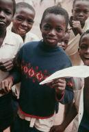 Boys learn about new toy, school near Enugu, Eastern Nigeria