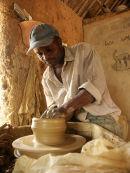 Potter at Maraba Pottery, Near Kaduna