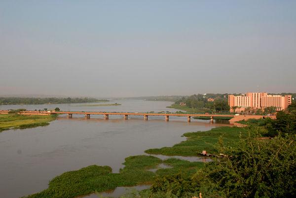 Bridge over the Niger River at Niamey