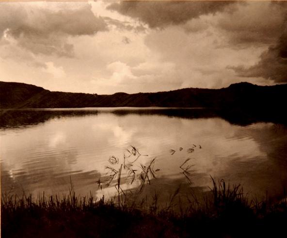 Sunset at dam at Miangu