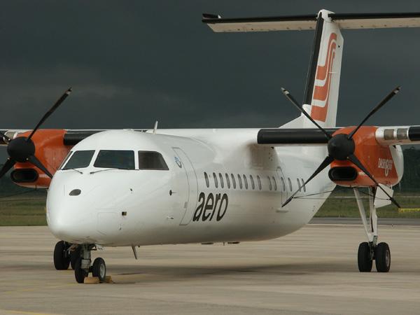 Aerocontractors Dash-8 at Warri, Nigeria
