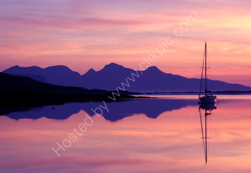 Eigg and Rum afterglow.
