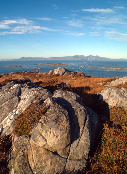 Eigg and Rum from Tor Mor