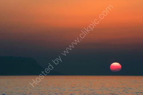 Sunset between Eigg and Rum