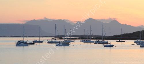 Boats at moorings in Arisaig