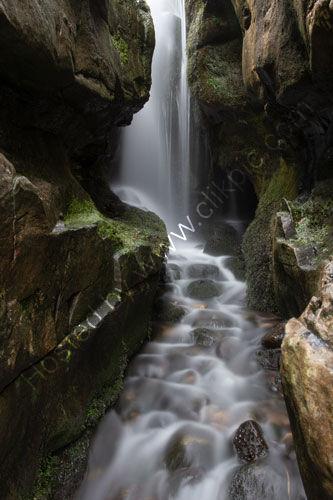 Waterfall, Singing Sand, Isle of Eigg.