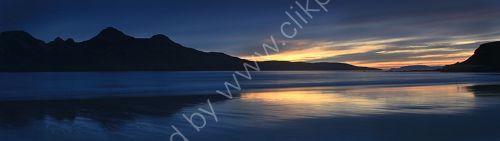 Dusk over Rum from,Isle of Eigg