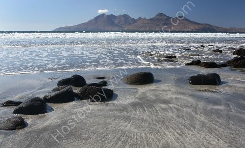 Rum from Eigg on summers day
