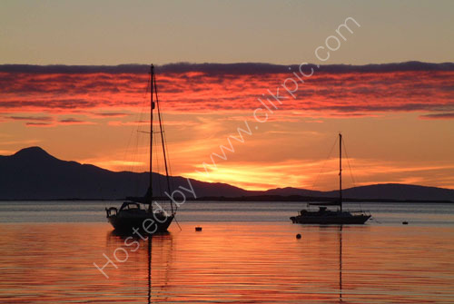 Sunet over Rum from Arisaig