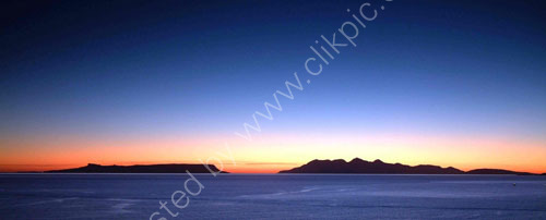 Afterglow over Eigg and Rum