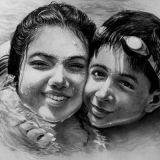 Detailed Twin Pencil Portrait