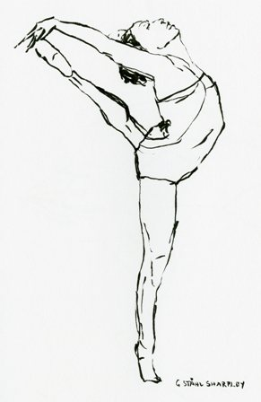 Card 3,  from original ink drawing on white, Gudrun Ståhl Sharpley