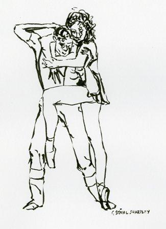 Card 6, from original ink drawing on white, Gudrun Ståhl Sharpley