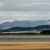 across morecambe bay at low tide