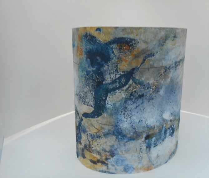 From Outside-Inside series,cylindrical two-sided print, etching,monoprint,drypoint