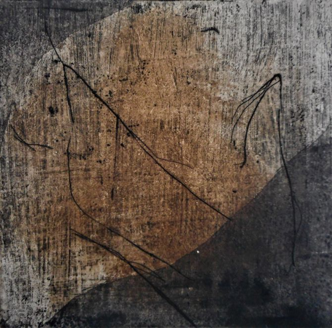 Copper-plate etching, aquatint, 10 x 10cms