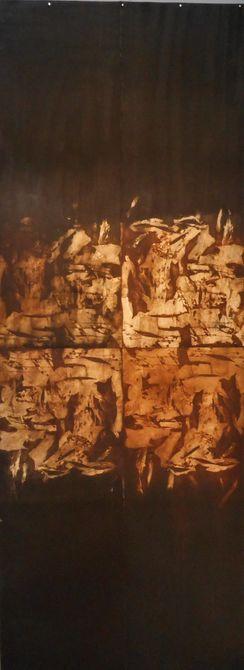 Locus   4-piece etching-188 x 95 cms