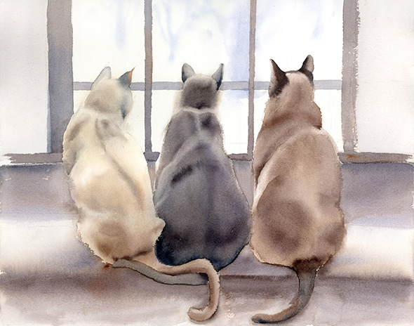 Cats-watercolor-print-by-PaintisPassion