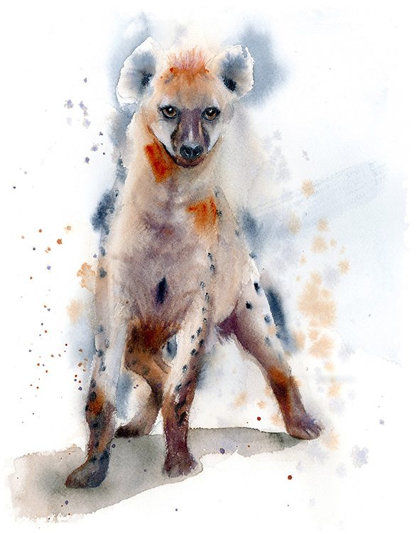 Hyena-painting-watercolor-wall-art-decor-by-PaintisPassion