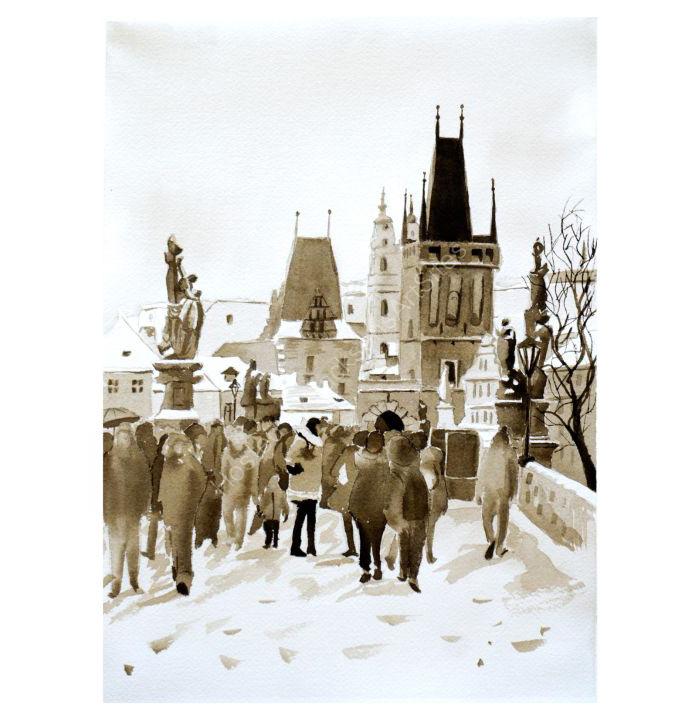Winter Prague (monochrome)