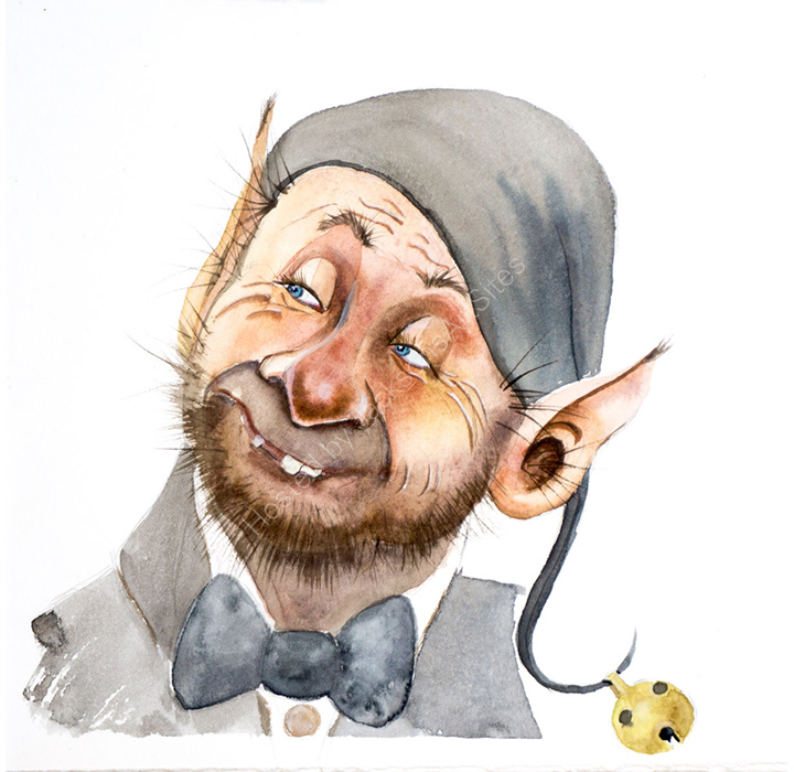 Goblin Cartoon Portrait .