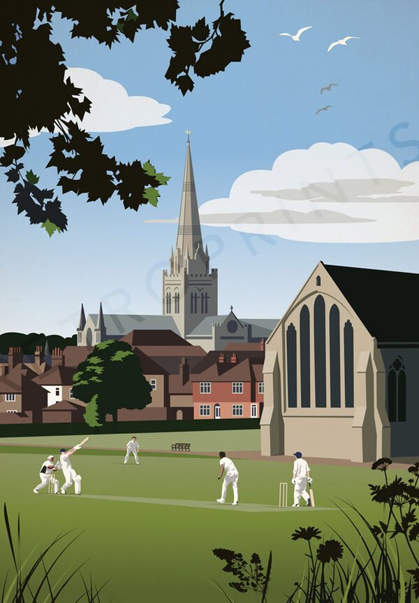 Cricket in Priory Park