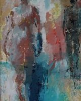 Figures in a landscape Mixed media 30 x 23cms