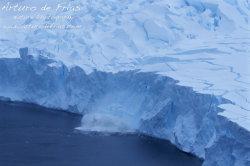 Glacier Calving an Iceberg