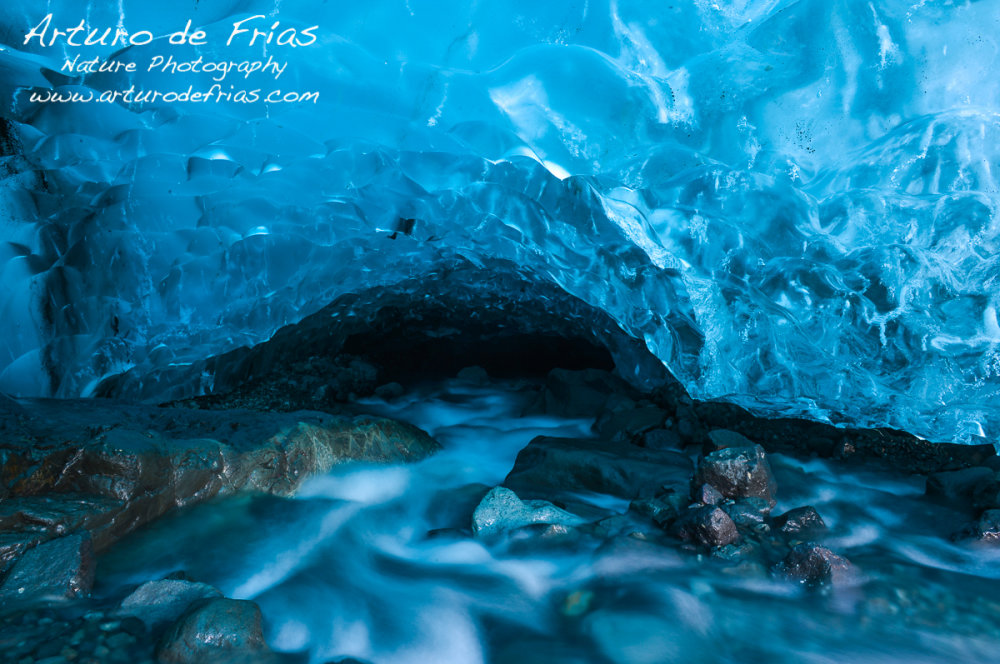Inside a Glacier cave, under countless tons of ice...