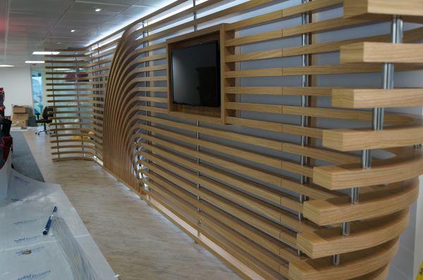 Oak Media Wall
