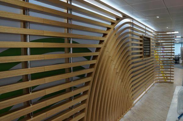Oak Media Wall Detail