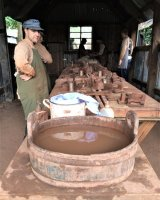 Making bricks the traditional way